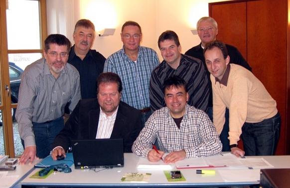 Erich Odörfer (Altdorf), Konrad Rupprecht (Feucht), Bernd Ernstberger (Schwarzenbruck), Werner Langhans (Wendelstein), Joachim Lang (Leinburg), Michael Schmidt (Winkelhaid) Sitzend von links: Heinz Meyer (Burgthann), Robert Pfann (Schwanstetten)